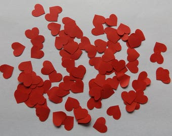 Pack of 100 Heart Die Cuts / Cut Outs Paper or Cardstock Red or White More (Listing 64)