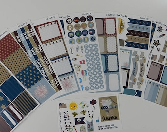 Fourth of July Ultimate Planner Sticker Kit (July 4th)