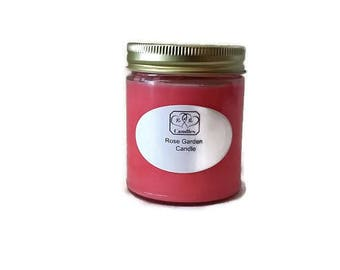 Rose Scented Candles, scented candles, floral scented candles, pink soy candles, candle gift for her, gift yourself, aromatic soy candles
