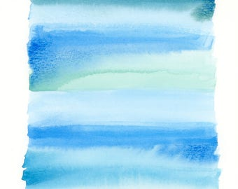 Stacked 2 Abstract Watercolor Painting