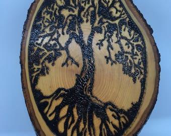 Tree of Life Woodburning