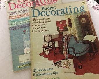 Vintage Budget Decorating Magazines