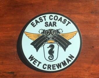 East Coast Sar Wet Crewman Sticker