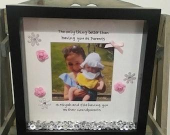 Personalised Nanna Frame, Nanna Gift, Grandma Gift, Mum Gift, Birthday Gift, Wall Decor, Grandparents Gift, Grandparents Frame