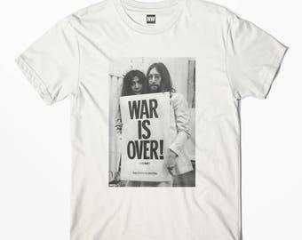 John Lennon - War is Over White Vintage Look T-Shirt - S M L XL