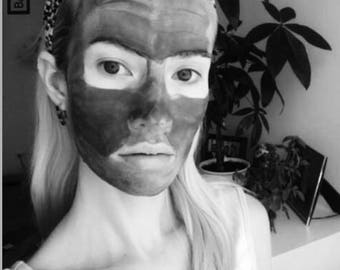 FACIAL CLAY MASK / Cleansing and Detoxifying / Black Activated Charcoal / Charcoal Clay Mask / Deep Cleansing & Refreshed Skin / Purifying