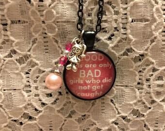 Good Girl/Bad Girl Charm Necklace/Bad Girl Jewelry