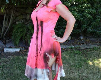 Cute pink zombie dress costume