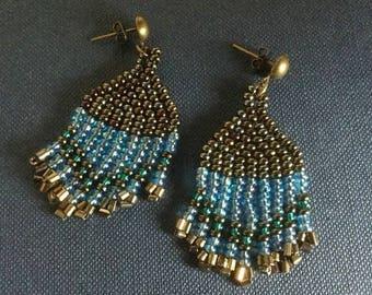 Blue Bangle earrings