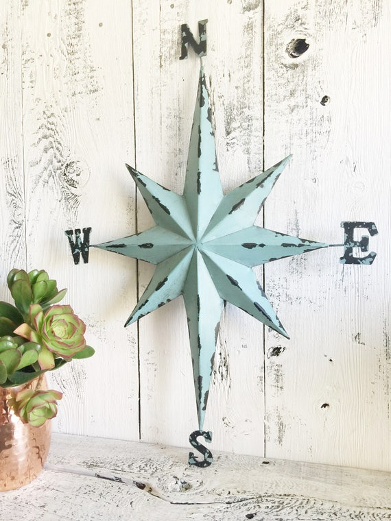 Compass Wall Decor Nautical Compass Direction Star Wall