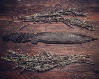 Hand carved Stone Knife (Athame)