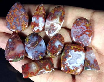 163.20Cts. Lot Top quality Moroccan Seam Agate gemstone Awesome loose gemstone Excellent Cabochons handmade Gemstone for jewelry use
