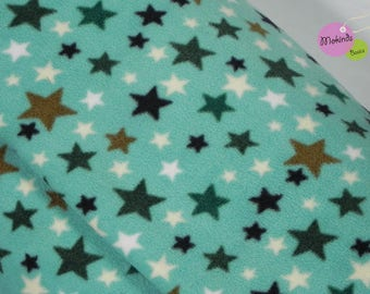 Fleece star turquoise, teal