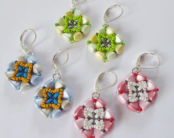 Threaded earrings from Nib beads