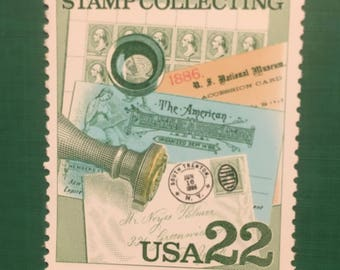 Postage stamps showing Stamp collecting  - the art of Philatelists -Hobby of stamp collecting