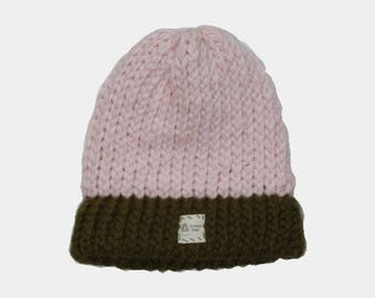 Popular Pink Cap with Olive Green Brim