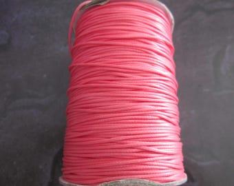 waxed cord 1 m peach 1 mm in diameter