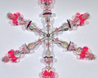 Beaded Snowflake Ornament No.7