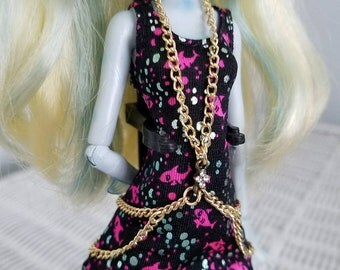 Monster High Doll fashion doll gold chain torso harness