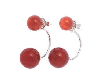 Double Red Crystal earrings