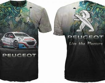 New ultramodern 3D  High Quality Peugeot   Men's T-shirt