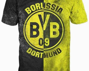 New ultramodern 3D  High Quality  Print Fans Borussia Dortmund short Sleeve t-shirt
