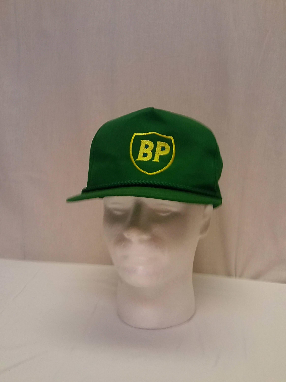 90f1ce468ee Vintage BP British Petroleum Men s Green Snap Back Adjustable Trucker Hat  Cap
