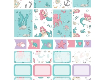 MERMAID FRIENDS  Weekly Planner Sticker Kit/Printable's Happy Planner Classic Instant Download /