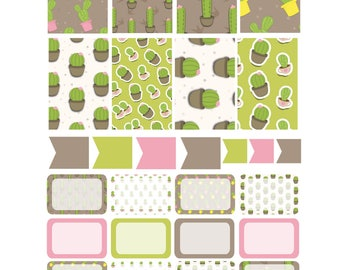 CACTUS  Weekly Planner Sticker Kit/Printable's Happy Planner Classic Instant Download /