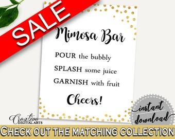 Mimosa Bar Sign Bridal Shower Mimosa Bar Sign Gold Confetti Bridal Shower Mimosa Bar Sign Bridal Shower Gold Confetti Mimosa Bar Sign CZXE5