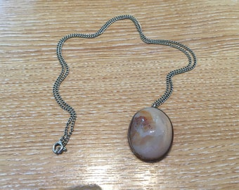 POLISHED PEBBLE Pendant in SILVER mount