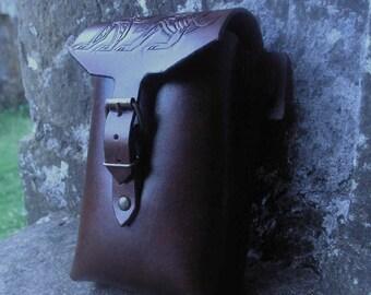Fenrir / Fenris Leather Side Pouch, Larp Viking Fantasy