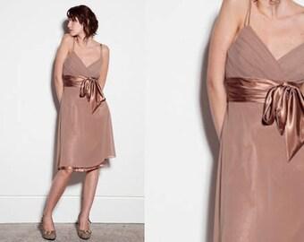 Beige button dress