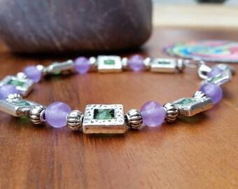 Bracelet made with beautiful Jade beads.
