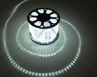 Custom Sized (Custom Length) LED Rope Lights for Patio, Backyard, Eaves, Roofs, Windows or Business etc. - Cool White