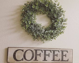 Rustic Coffee Sign- Wood Coffee Sign- Farmhouse Decor- Rustic Wood Sign- Distressed Wood Sign- Rustic Wall Decor
