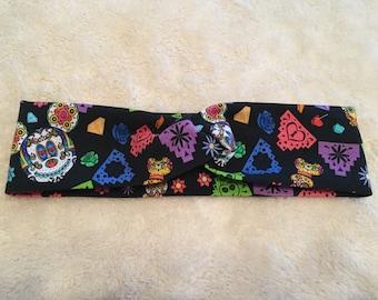 Disney Dia de mouse headband, day of the dead , turban headband , run disney, coco, running gear, yoga headband, crossfit
