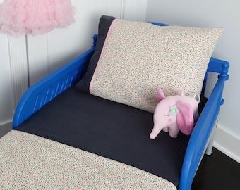Crib Bedding/Toddler Bedding/Polka Dot Bedding/Girls Crib Bedding/ Pink Toddler Bedding/ Pink Crib Bedding/Three Piece Toddler Set/Crib Set