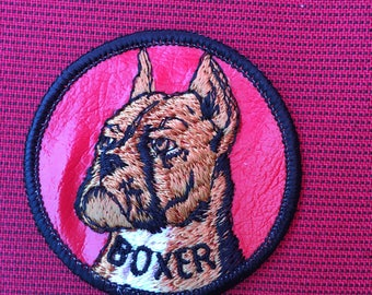STYLIN' BOXER Dog PATCH Detailed Stitching L@@K Unique Boxer