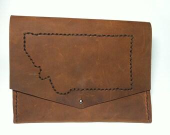 Montana leather clutch