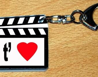 Keychain CLAP movies I love you-Valentine