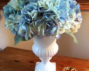 Blue Hydrangea Urn