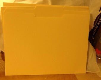 10 manilla file folders