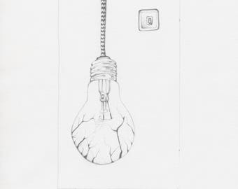 "Original pencil drawing ""Stop global warming"""