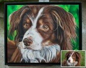 Custom 11in x 14in x 1.375in - Oil/Acrylic on Gallery Canvas Pet Portrait Paintings + Short Time Lapse Video Production