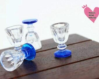 Dolls House Miniature Wine Glass 4pcs