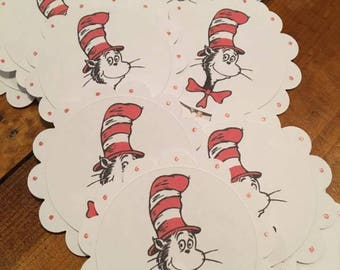 12 Dr Seuss Cat in the Hat Cupcake Toppers (on sale)
