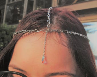 Silver Crystal Accent(Adjustable) Head Chain Jewelry