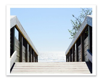 Beach Print, Ocean Print, Blue Landscape Photography, Wall Art, Downloadable, Printable, Blue Sky, Summertime, Beach house decor, Island