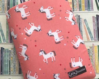 Buddle, small, padded book cover/sleeve (unicorns)